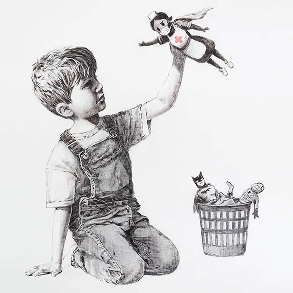 Banksy covid obraz