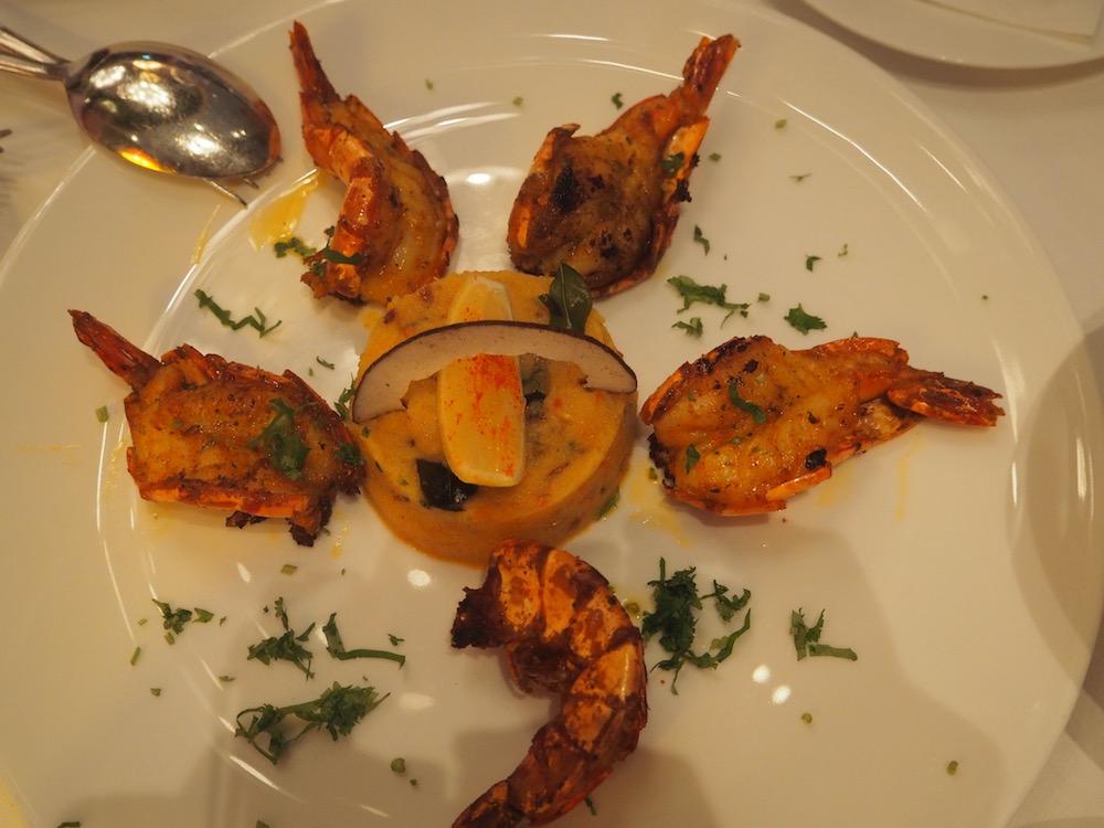 Krevety vindické restauraci