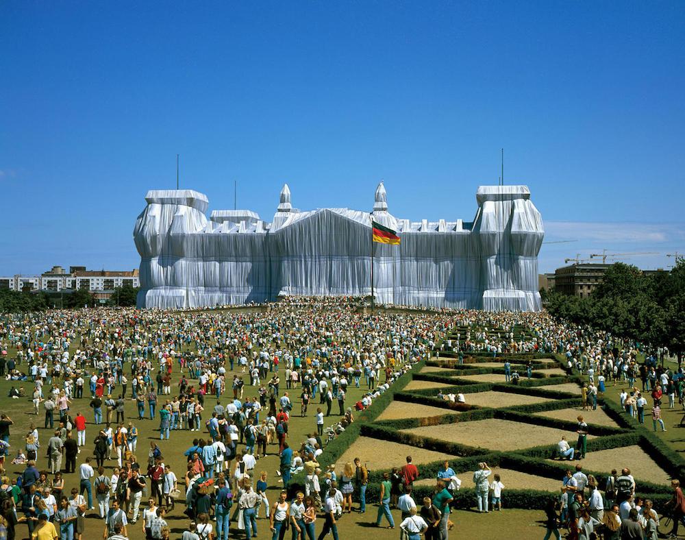 Zabalený Reichstag vBerlíně